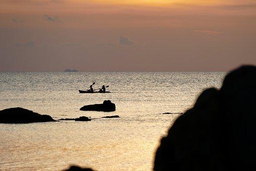 Waters, Sunset, Beach, Sea, Coast, Dusk, Sky