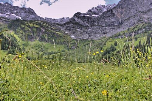 Nature, Landscape, Mountain, Travel, Grass, Sky