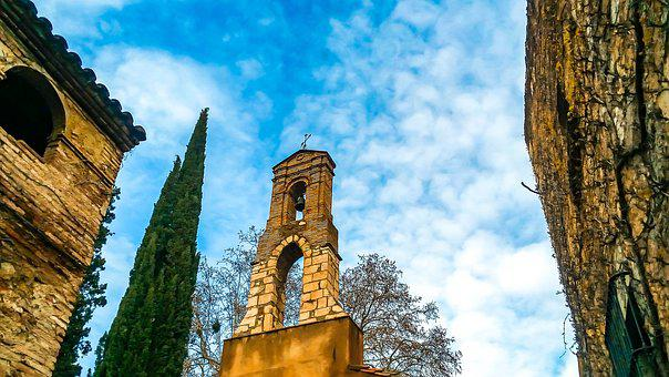 Scala, Bell Tower, Church, People, Village, Tourism