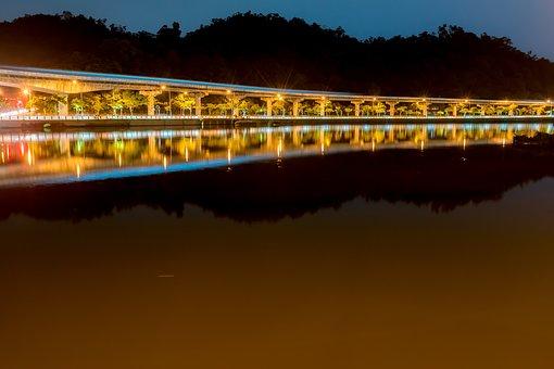 Evening, Water, Sunset, Dusk, Bridge, Travel, Outdoors
