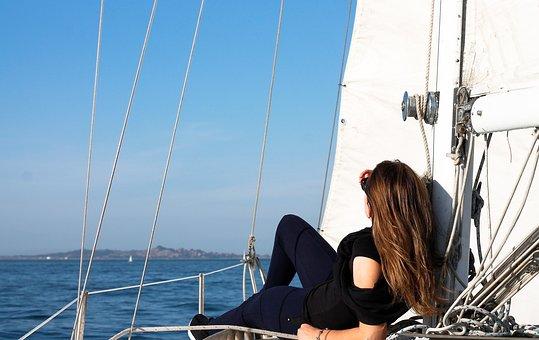 Sailboat, Yacht, Sea, Sail, Rope, Water, Ship, Outdoors