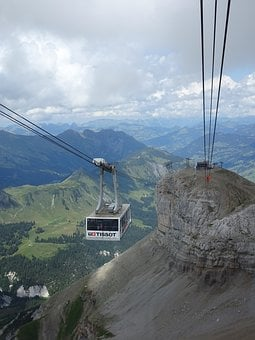 Cable Car, Alps, Nature, Travel, Water, Outdoors, Sky