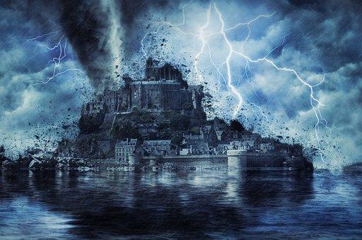 Storm, Destruction, Weather, France, Normandy