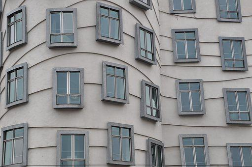Architecture, Home, Window, Dancing House, Building
