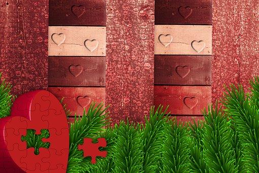 Background, Design, Texture, Heart, Wood, Hearts