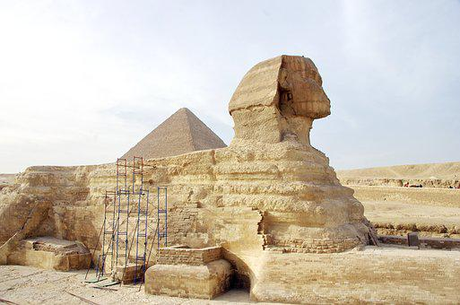 Egypt, Sphynx, Giseh, Statue, Archaeology, Antique