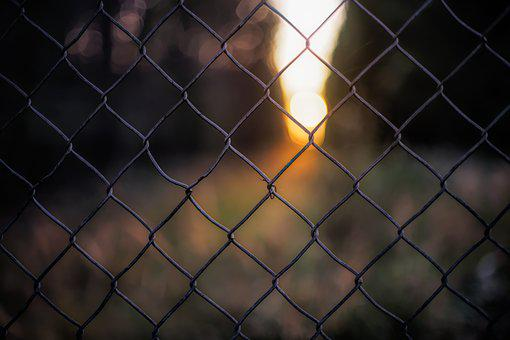 Background, Fence, Grid, Cage, Prison, Light, Sunset
