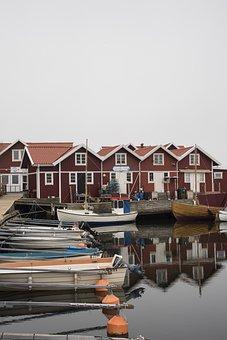 House, Body Of Water, No Person, Bohuslän, Skärhamn