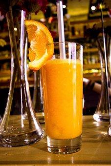 Drink, Glass, Fruit, Orange, Juice, Cocktail, Cold