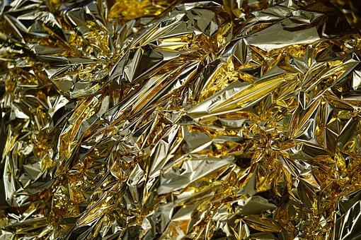 Emergency Blanket, Slide, Silver Foil, Gold Foil