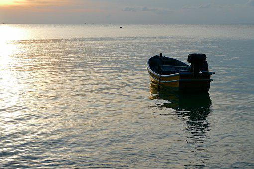 Waters, Sea, Ocean, Ship, Boot, Fishing Boat, Romantic