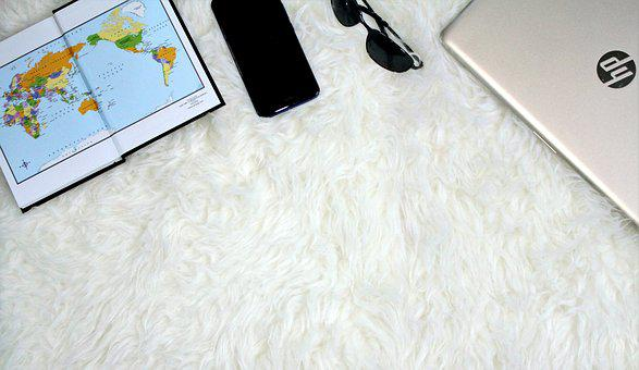 World Map, Mobile, Phone, Cell Phone, Sunglasses, Fur
