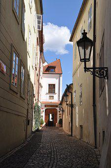 Prague, Alley, Streets, Architecture, Road, City, Home