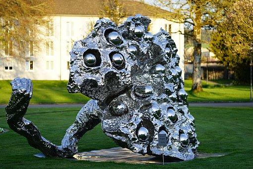 Art, Modern Art, Metal, Iron, Silver, Shine, Artwork