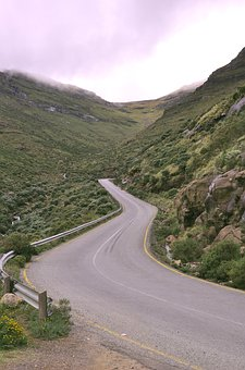 Lesotho, Africa, Road, Nature, Travel, Mountain