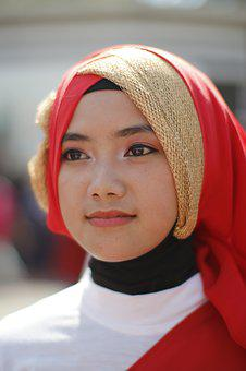 Portrait, Scarf, People, Wear, Hijab, Moslem, Young