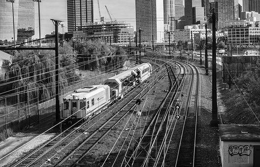 Train, Transportation System, Railway, Railroad Track