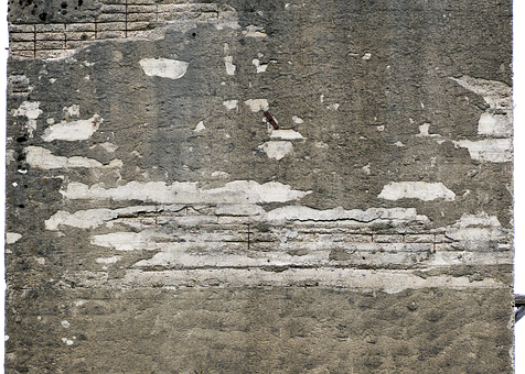 Concrete Wall, Reinforced Concrete, Holes, Old