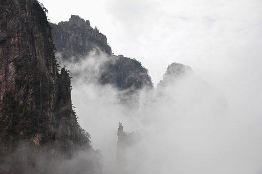 Nature, Mountain, Landscape, Rock, Tourism, Huangshan