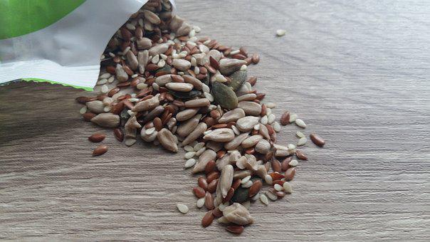 Seeds, Flaxseed, Sesame, Snack, Healthy, Vegan