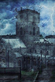Church, Weather, Storm, Destruction, Architecture