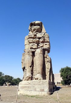 Egypt, Colossus, Memnon, Thebes, Luxor, Aménophis3
