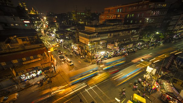 Traffic, City, Road, Travel, Dusk, Kolkata, Highway