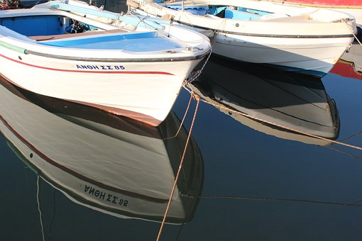 Transportation System, Boat, Sea, Water, Reflection