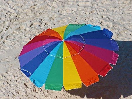 Umbrella, Sand, Summer, Sunshade, Beach, Travel, Nature