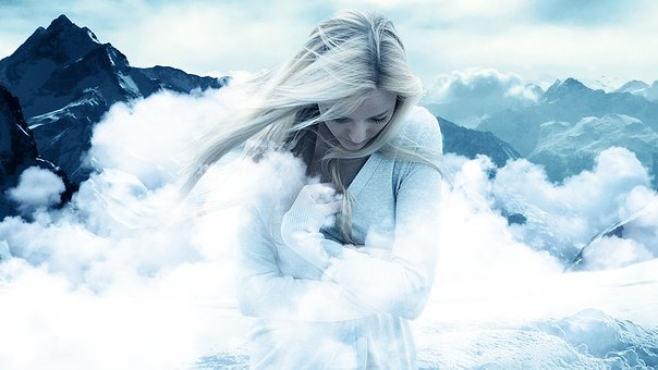 Snow, Winter, Cold, Nature, Woman, Freeze, Frost