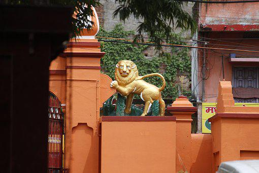 Architecture, House, Old, Lion, Structure, Historic