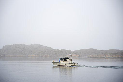 Body Of Water, No Person, Mist, Sea, Outdoor, Boat