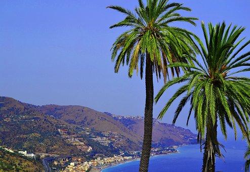 Coast, Travel, No One, Beach, Island, Sicily, Sea