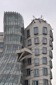 Prague, Dancing House, Architecture, Building, City