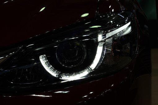Car, Mazda 6, Front Light, Auto Show Zagreb 2018