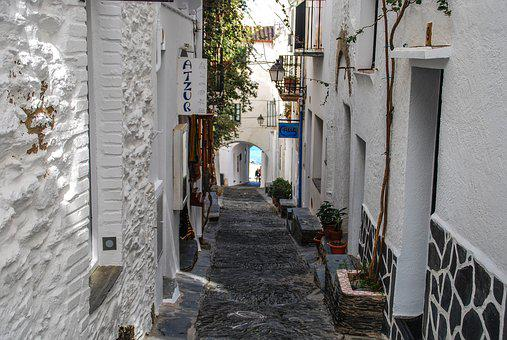House, Architecture, Window, Street, Door, Cadaqués