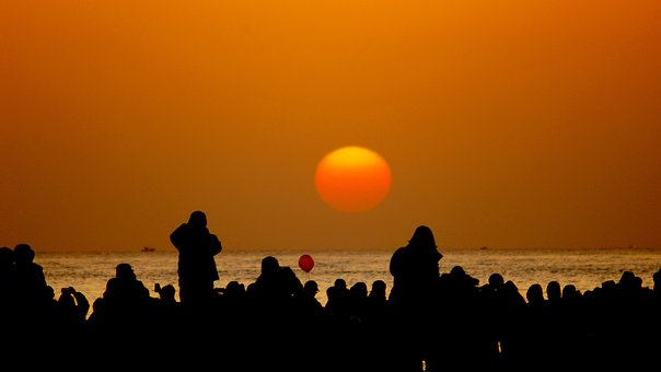 Sunrise, In The New Year, Silhouette, Gangneung