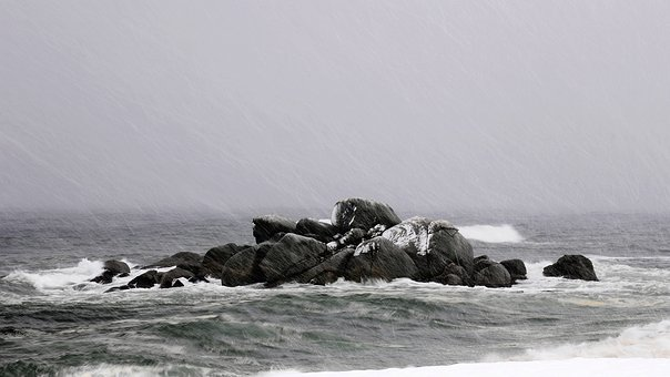 Nature, Dawn, Sea, Beach, Coastal, Japan Sea