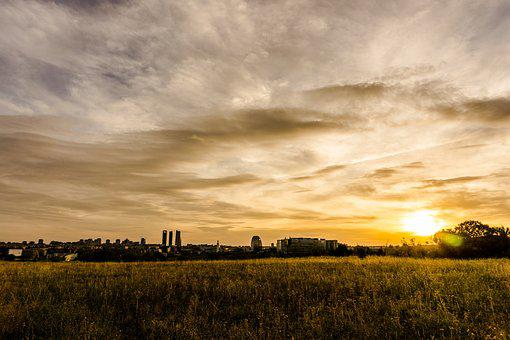 Sunset, Nature, Panoramic, Landscape, Agriculture