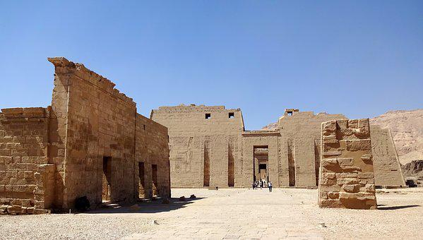 Egypt, Thebes, Luxor, Temple, Medinet-habu, Tower
