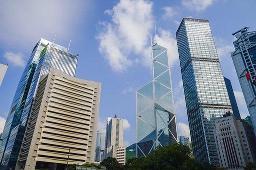 Skyscraper, Building, City, Sky, Modern, Office