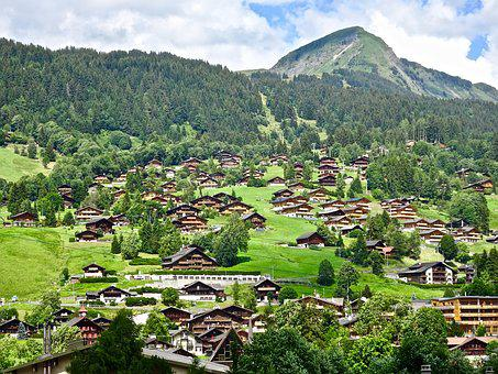 Village, Swiss, Travel, Mountain, Nature, Hill