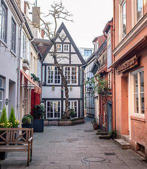 Bremen, Schnoor, Home, Old Town, Places Of Interest
