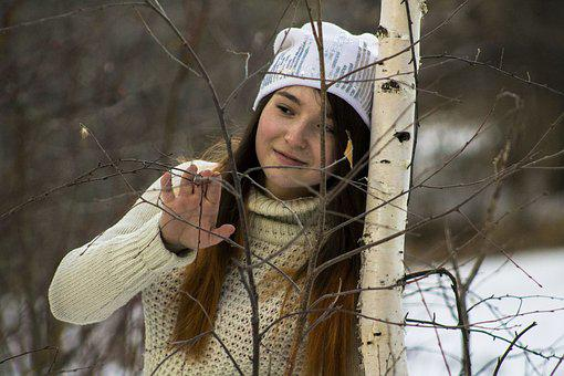 Winter, Coldly, Nature, Portrait, Outdoors, Photoshoot