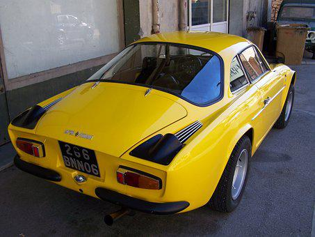 Old Car, Alpine A110, Plan Du Var