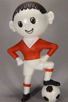 Football, Players, Plastic, Toys, Figure, Red, Jersey