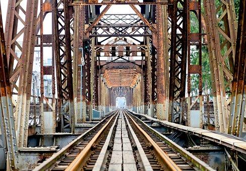 Train, Railway, Steel, Railroad Track