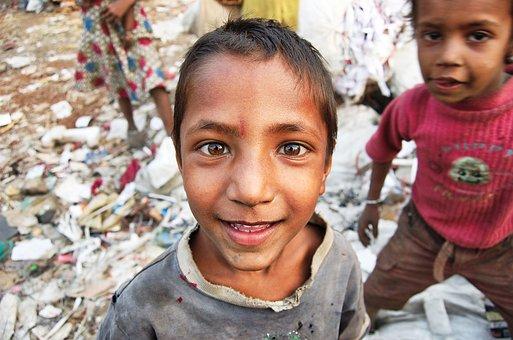 People, Child, Portrait, Boy, Poor, Smile, Slums, H4zp