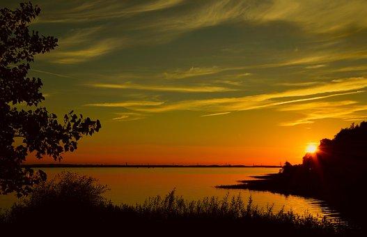 Sunset, Dawn, Dusk, Nature, Sun, Landscape, Schönwetter