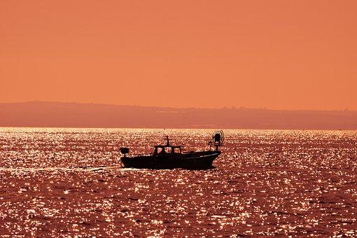 Water, Sunset, Dusk, Sea, Sky, Sunlight, Light, Evening